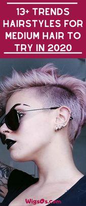 13+ Trends Frisuren für mittleres Haar im Jahr 2020 zu versuchen