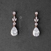 CZ Pear Drop Braut Ohrringe   – jewelry
