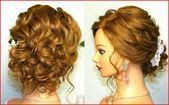 Wedding Hairstyle : Easy Bridesmaid Hairstyles For Curly Hair Wedding Thick Gues…,  #Brides…