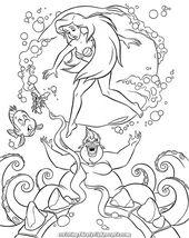 Excellent Walt Disney Coloring Pages Flet Sebastien Princess Ariel And Ursula Ariel Coloring Pages Disney Coloring Pages Disney Princess Coloring Pages