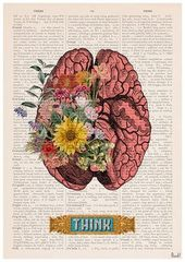 Brain Flower Art – Nature Anatomy – Anatomy Illustration – Brain Wall Art – Anatomy Print – Anatomical Poster – SKA131PA3
