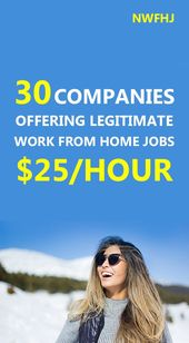 30 companies offering legitimate work from home jo…