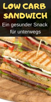 Low carb Sandwich – Sehr einfach, kalorienarm und super lecker