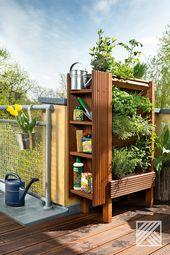 Erst selber bauen und dann selber anlegen. Ein vertikaler Garten ist platzsparend und die Pflanze bekommen viel Licht.  Einen Ratgeber für die Bepfla…
