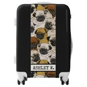 Suitcase For Pug Dog Lovers Personalized Luggage Zazzle Com