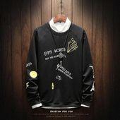 Privathinker 2018 Mens 3D Graffiti Print Streetwear Black Sweatshirt Male Hiphop Harajuku Round Neck Hoodies Sweatshirt   – Hoodies & Sweatshirts