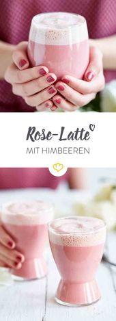 Liebe zum Schlürfen: Rose-Latte mit Himbeeren
