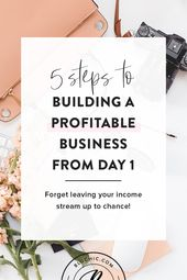 5 Steps to Building a Profitable Business from Day 1