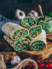 Spinach wraps with cashew cheese (vegan) – Bianca Zapatka | Recipes
