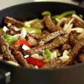 Onion and Pepper Smothered Round Steak