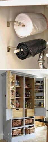 12 Diy Kitchen Storage-Ideen für mehr Platz in der Küche 1 – #DIY #Ideas #Kitc … – https://pickndecor.com/haus