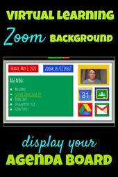 Zoom Agenda Board Background