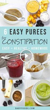 20 Quick and Easy Vegetable Purees for Babies Purees are among the first foods g… – mypins