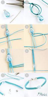 DIY bracelets Swarovski Scarab by Dorothy Wood – I-Perles blog #armbander #do …