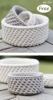 Nautical Basket Crochet Free Pattern – letscrochet