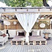 Coole Lounge für den Garten aus Paletten