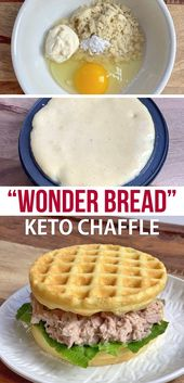 New & Improved Comfortable White Bread Chaffles (Simple KETO Sandwich Bread!) Made with Almond Flour.