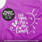 Wir sehen uns am Strand SVG, schneiden Sie Dateien, Strand tropischen Zeichen Svg, FlipFlop Svg, Sommersonne Svg, E …