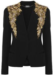 Alexander McQueen Embellished crepe jacket on shopstyle.com