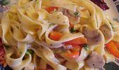 Recette: sauce crémeuse Fettuccine aux champignons et au poivre.   – Cuisine