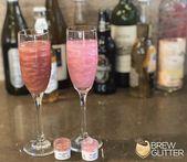Pink und Maroon Red Essbarer Glitter für Cocktails!