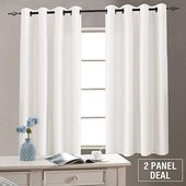 Amazon.com: Vangao White Faux Silk Curtains Bedroo…