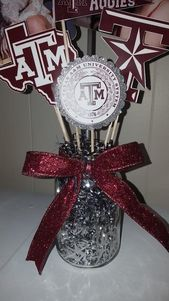 Graduation Centerpiece, Customized, Vase Pick, Party, Party Decorations, High School, College, Grad