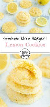 Saftige Zitronen Cookies