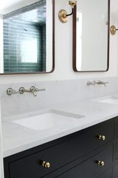Our Undermount Bathroom Sink & Wall-Mount Faucets Installed