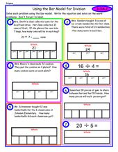 This Worksheet Is Designed To Give Step By Step Practice Using The Bar Model Strategy Of Division In 2020 Bar Model Singapore Math Math Models