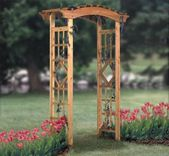Garden Arbor Wood Project Plan This stylish Garden Arbor will surely enhance the…