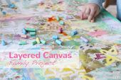Dieses mehrschichtige Leinwand-Familienprojekt ist eine super spaßige … – Art, Crafts, & Kids