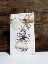 Engel Holz Engelsflügel Weihnachtsengel Weihnachtsdeko Shabby Chic Vintage Engelfigur Schutzengel Flügel Skulptur Kette Weihnachtsdekoration