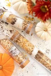 DIY Pumpkin Spice Latte Bath Soak