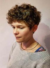 51 schöne kurze lockige Frisuren: Tipps für gesunde kurze Locken – Neueste frisuren | bob frisuren | frisuren 2018 – neueste frisuren 2018 – haar modelle 2018