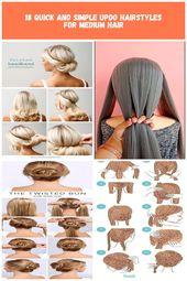 Twisted Stirnband Hochsteckfrisur - Blonde Medium Hiar Ideen für den Sommer DIY Hochzeit Frisuren 18 Schnelle und einfache Hochsteckfrisuren für mittlere Haare