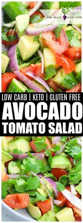 Avocado Salad with Tomatoes, Cucumber, and Onion tossed with fresh Cilantro |  K…