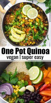 Esta quinua mexicana vegana de una olla con frijoles negros y maíz es uno de mis favoritos …   – Vegan