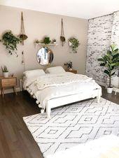 Mein minimalistisches Boho-Schlafzimmer enthüllt #enthulled #minimalistic   – Wohnung