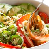 Spring Roll Bowls with Sweet Garlic Lime Sauce – Clean Eating Recipes