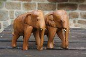 Elephant indien en bois, sculpture / Carved wooden elephant, brown, indian, boho, ethnique, bohemian