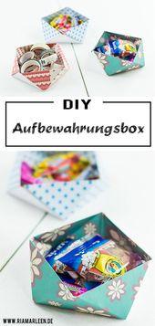 DIY Origami Aufbewahrungsbox – ohne Kleber   – DIY – Ideen und Inspirationen zum Selbermachen