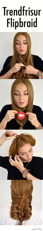 Flip Braid: In 5 Schritten zur trendigen Frisur #braid #hairstyle #steps #trendy