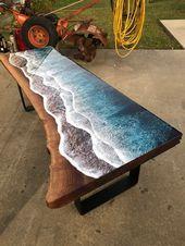 Brilliant Holz Und Harz Tisch Bringt Ocean Shores Drinnen Miif