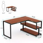 Hertford L-Shape Credenza Desk