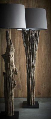 100 Ideen von Möbeln aus Baumstümpfen, Ästen, Stümpfen und Baumstämmen