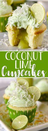 Diese Coconut Lime Cupcakes sind das süße Frühlingsgebäck Ihrer Träume, …