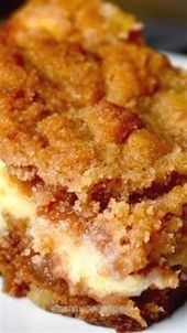 Cream Cheese Apple Coffee Cake Recipe #dessert #recipes
