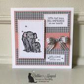 Baby Cards Sweet Baby Card Featuring Wildly Happy Stamp Set by Stampin' Up!