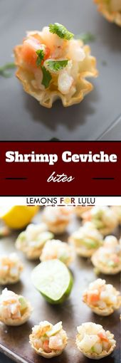 Every party needs simple appetizers and that's exactly what this shrimp cevi…